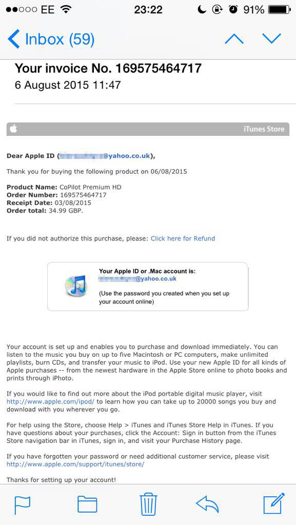 "Action Fraud ar Twitter: ""Watch out for this Apple ID scam email  If"