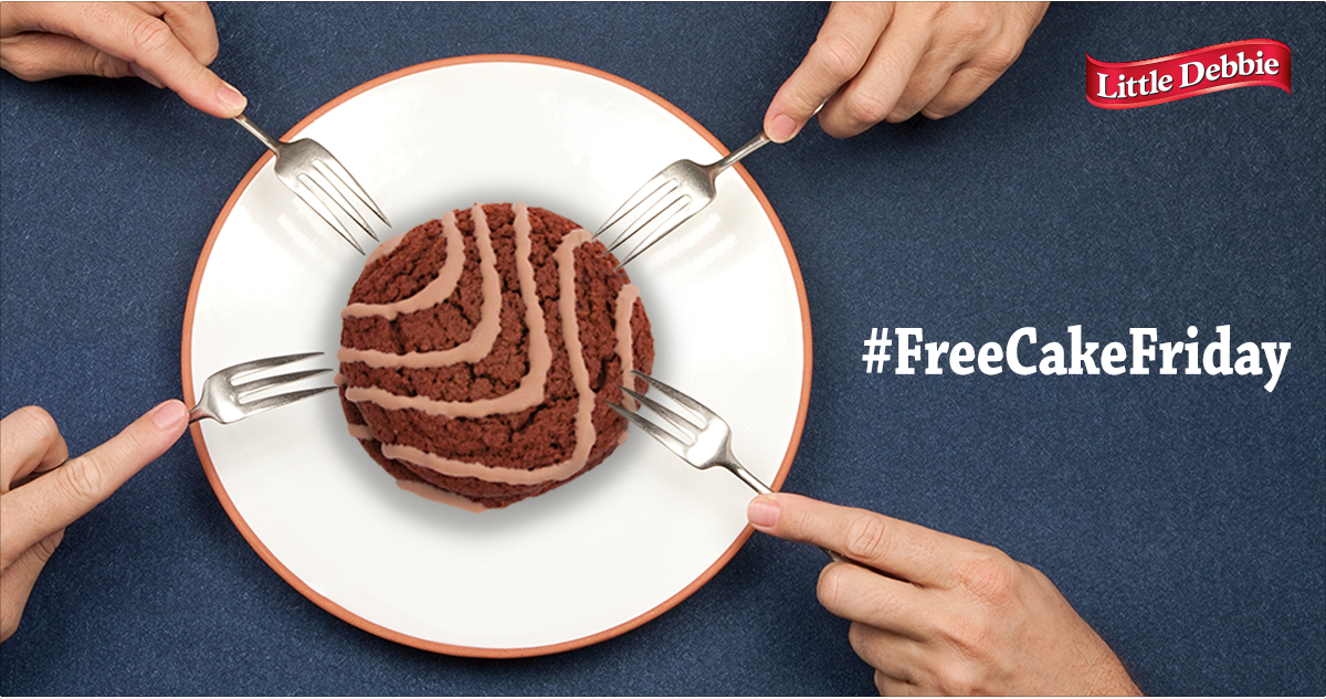 What day is it? #FreeCakeFriday! RT & Follow now for a chance to win sweet treats. http://t.co/M0mbam5V1U