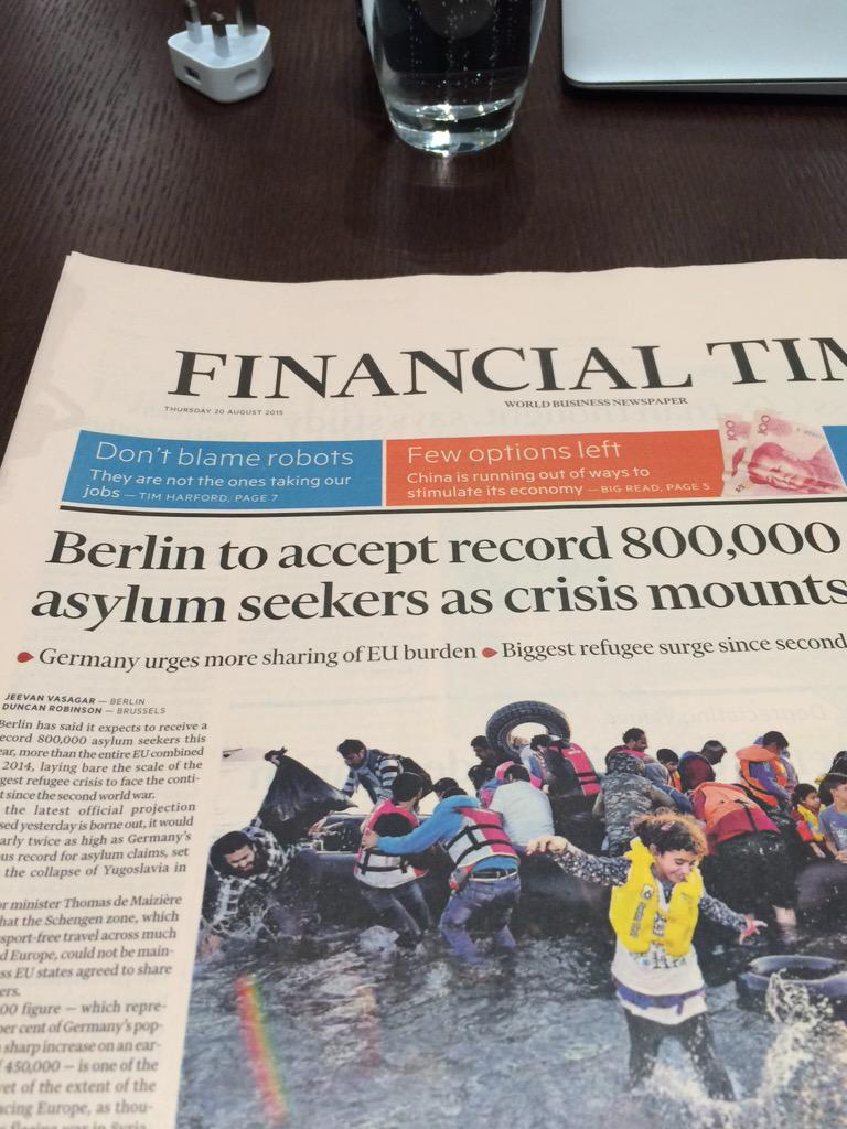 Bravo, Germany. I think the U.S. has so far accepted a whopping 2000 refugees... For shame. #Syria http://t.co/nx2b7o4GOe