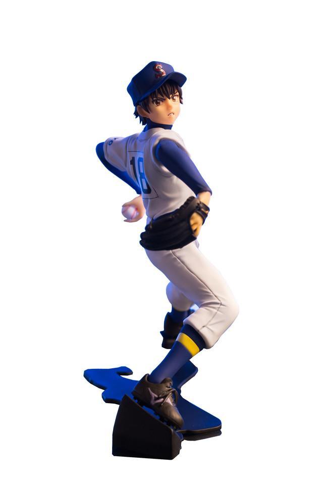 「ダイヤのA」沢村栄純の投球姿を立体化、抽選で「ぷちフィギュア」も当たる