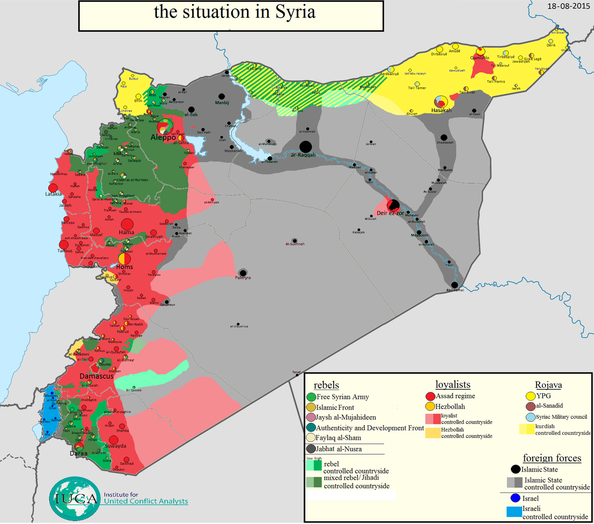 thomas van linge on twitter syria map update the situation in syria as of 18082015 bigger at httpstcolx4pipyg0g fsa saa is ypg jn