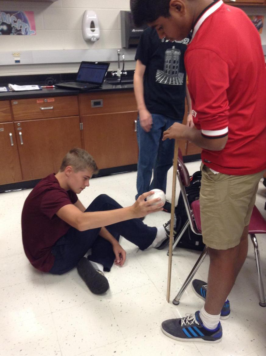 1st physical science lab! Determining the relationship between bounce height and drop height. #NAHScommUNITY http://t.co/znc8cXxz3N