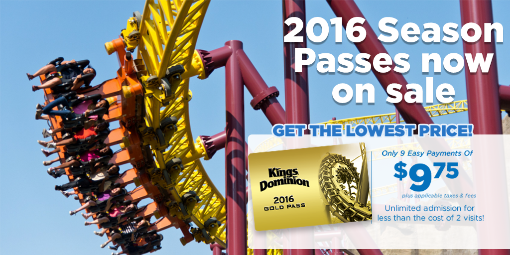 Kings Dominion is Virginia's only destination offering two parks for the price of one. We have everything you need for creating lifelong memories. Our 40th Celebration starts in and offers magnificent experiences you won't find anywhere else!K TripAdvisor reviews.