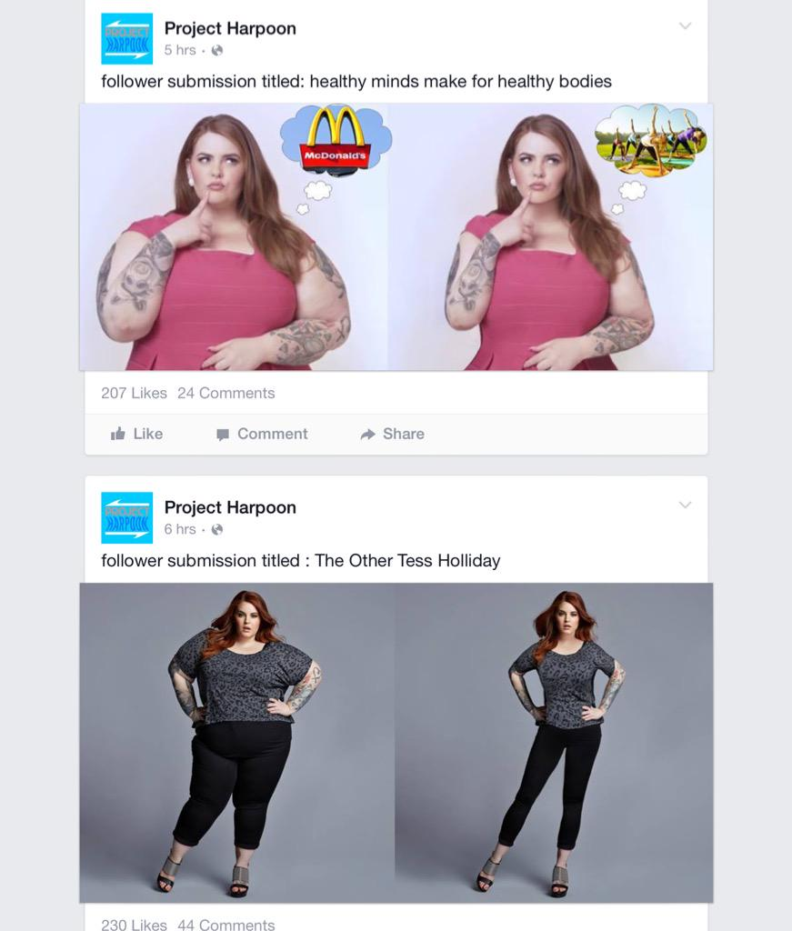 Project Harpoon Disgustingly Photoshops Women To Look Thinner. Women Respond Brilliantly forecasting