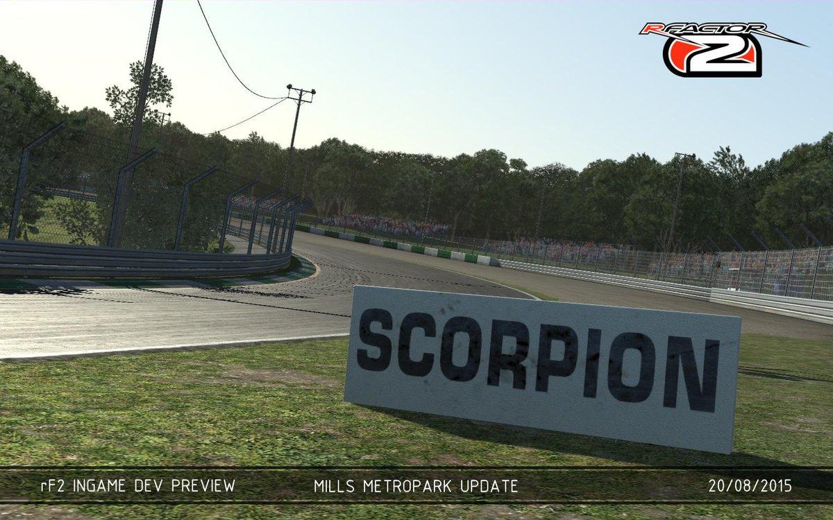 Curva del escorpión en Mills Metropark Racing Online Club