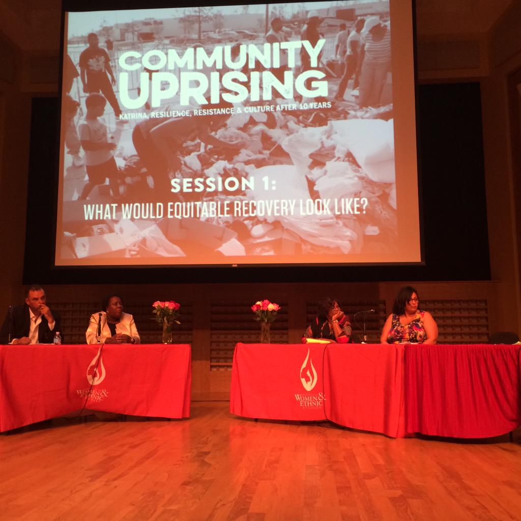 Life didn't just start at (Katrina), it was ongoing - Dr. Linda Usdin summarizing 1st panel at #CommunityUprising http://t.co/Gg9kwvWhhu