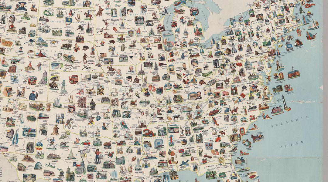 Vox On Twitter Visit Every Place On This Vintage Us Map For The - Map-of-us-paper-mills