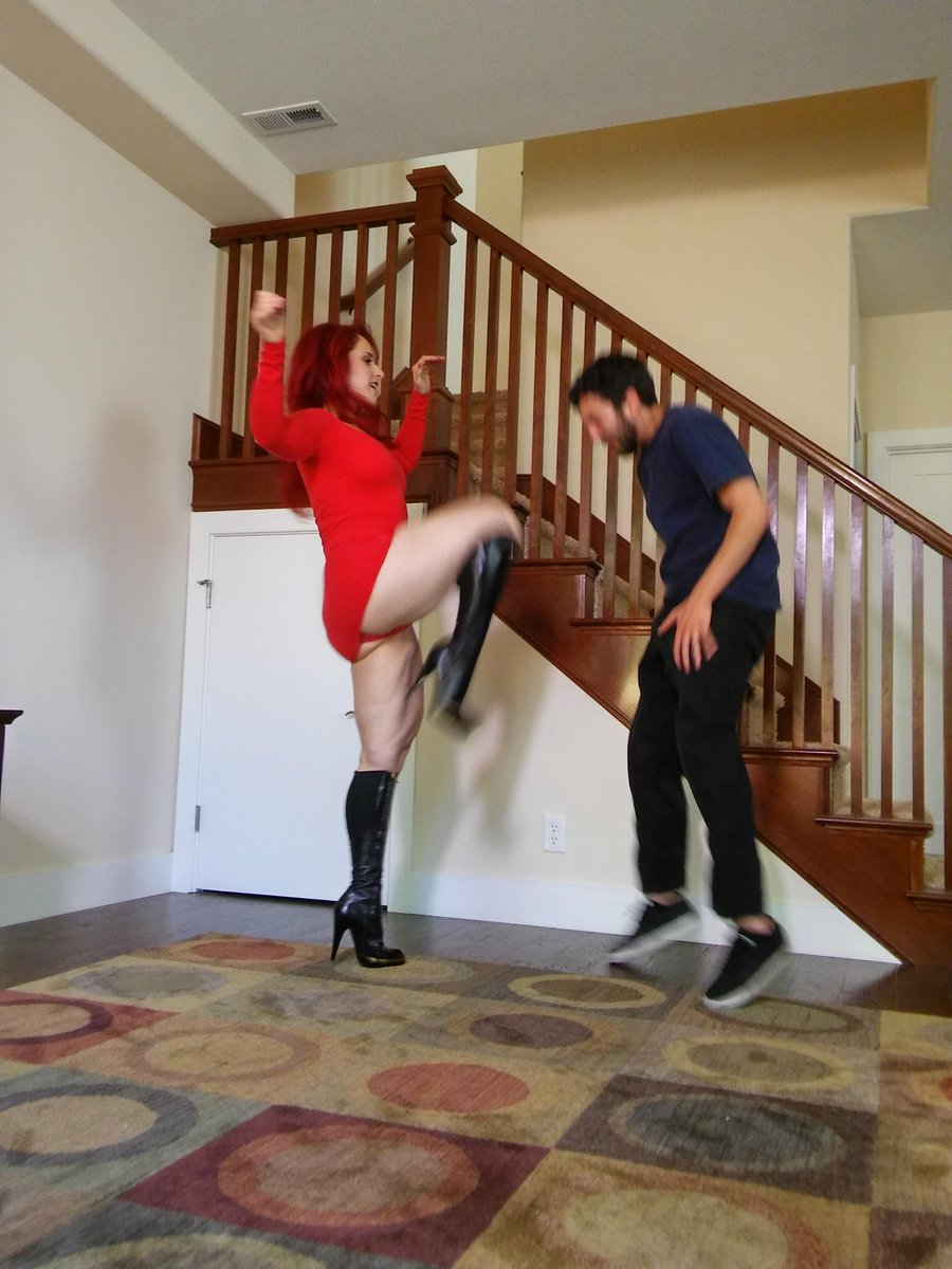 Ball busting boots