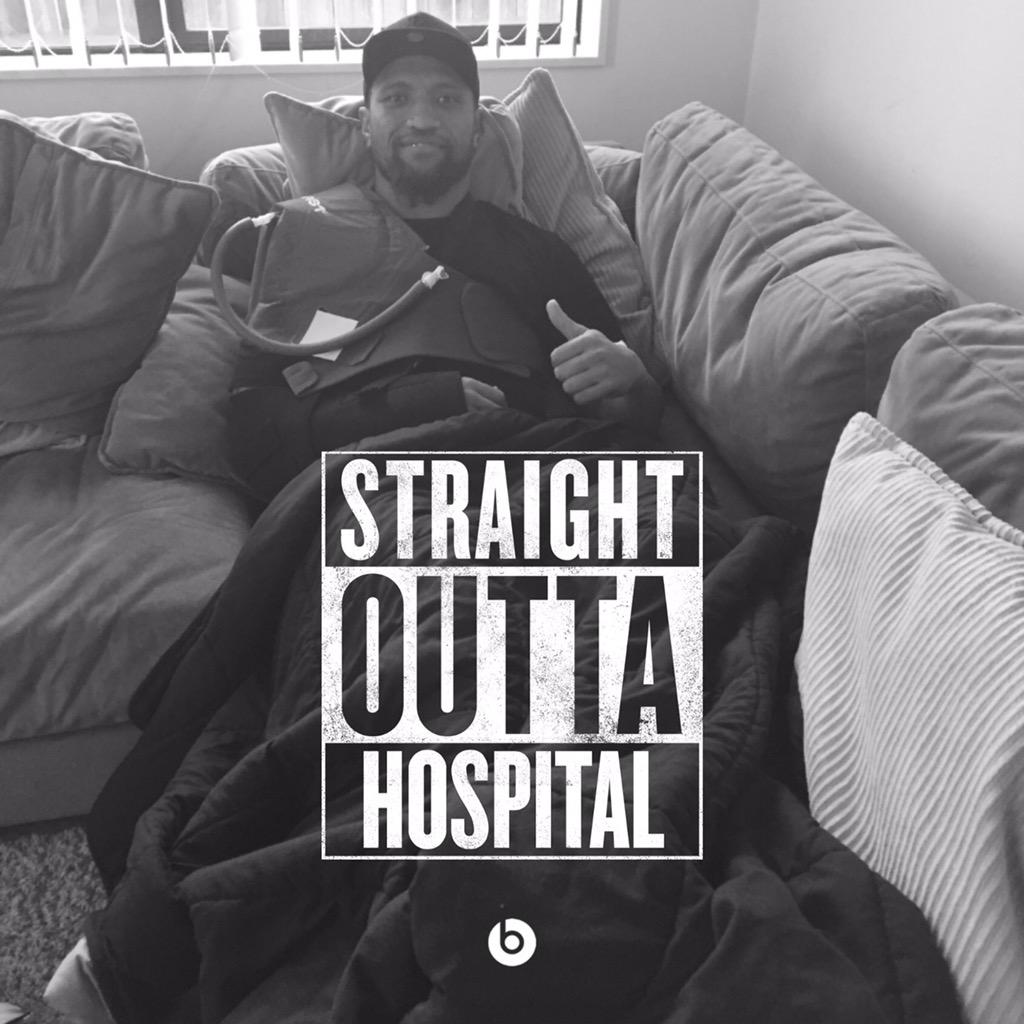 Good to be home #OUA #RoadToRecovery http://t.co/6r1dFggNW1