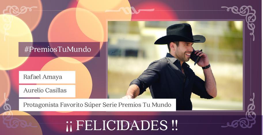 Mi @RafaAmayaNunez #ProtagonistaFavorito en #PremiosTuMundo de @Telemundo!!! Arre!!! #ESDLC3 @PremiosTuMundo