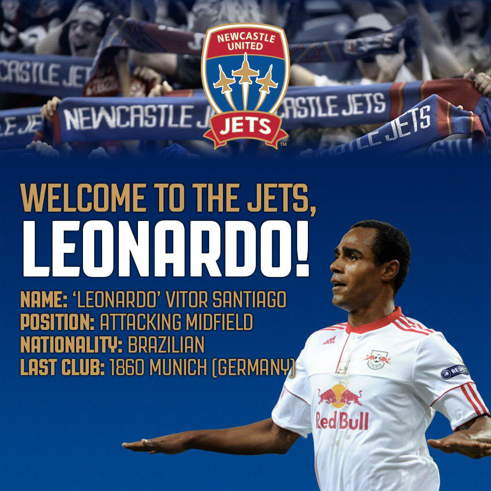 [RECRUIT] Welcome to @NewcastleJetsFC, Leonardo Vitor Santiago!!! http://t.co/DuMmpQ7nA8 #ALeague #TogetherWeCanSoar http://t.co/MefVu371N9