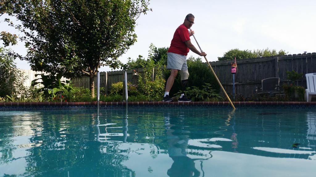 While having a pool might be considered a luxury, cleaning it is #notaluxury @AmputeesUSA @_Amplitude_ @CMSGov http://t.co/jgpzNHZHiK