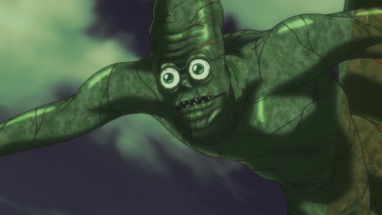 【うしおととら】大人気のグニョグニョ気持ち悪い緑の妖怪「衾」がアニメに登場!