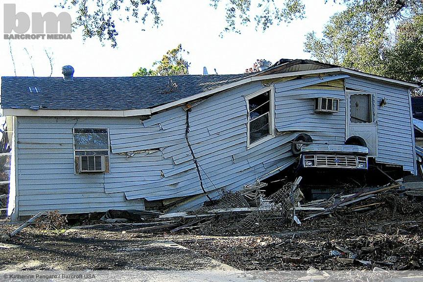 Hurricane Katrina: 10 years on: One of the many houses destroyed by the natural disaster  ©Katherine Pangaro/Barcroft http://t.co/NHD2ftFOEj