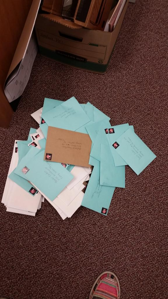 YOU MATTER Letters to my 7th graders are headed out! @Mann4Edu @AMCMSCatPRIDE @AngelaMaiers @CSISD http://t.co/DWzyDnfjQ5