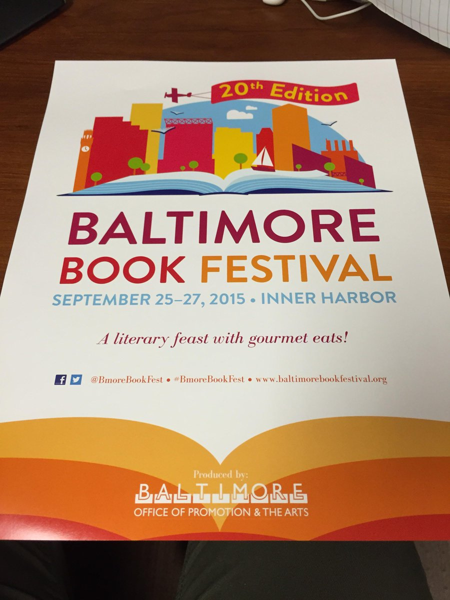 A literary feast with gourmet eats. #BmoreBookFest returns September 25-27! #visitbaltimore http://t.co/xe5CsTyPuq