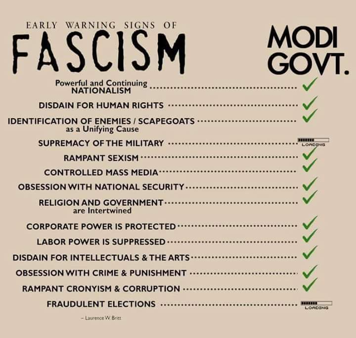 Early Signs Of Fascism >> क मल On Twitter Early Warning Signs Of Fascism