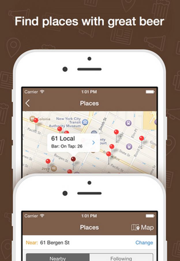 Beer menus app