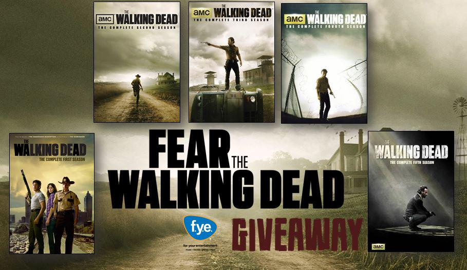 Major giveaway! RT/Follow to enter to win Seasons 1-5 of @WalkingDead_AMC on Blu-ray! http://t.co/bI11PZWnZz #FearTWD http://t.co/UkTn46tzAV