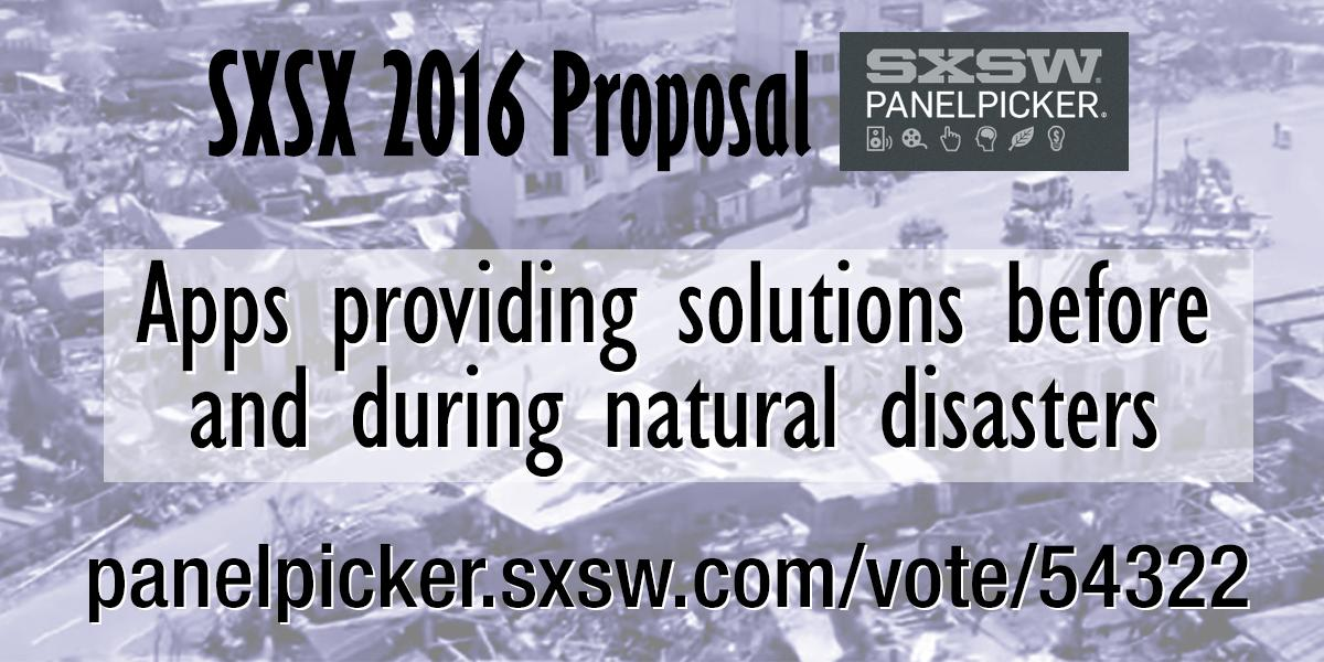 There are 3,970 #SXSW2016 Interactive proposals.  This one can save the World. #SXSW http://t.co/Nwp9NMFyxF http://t.co/piYDqyEJ5e