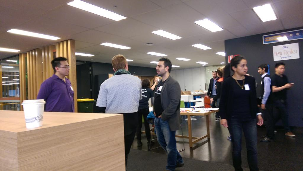 early arrivals #pcampmelb http://t.co/8TdVx1byRR