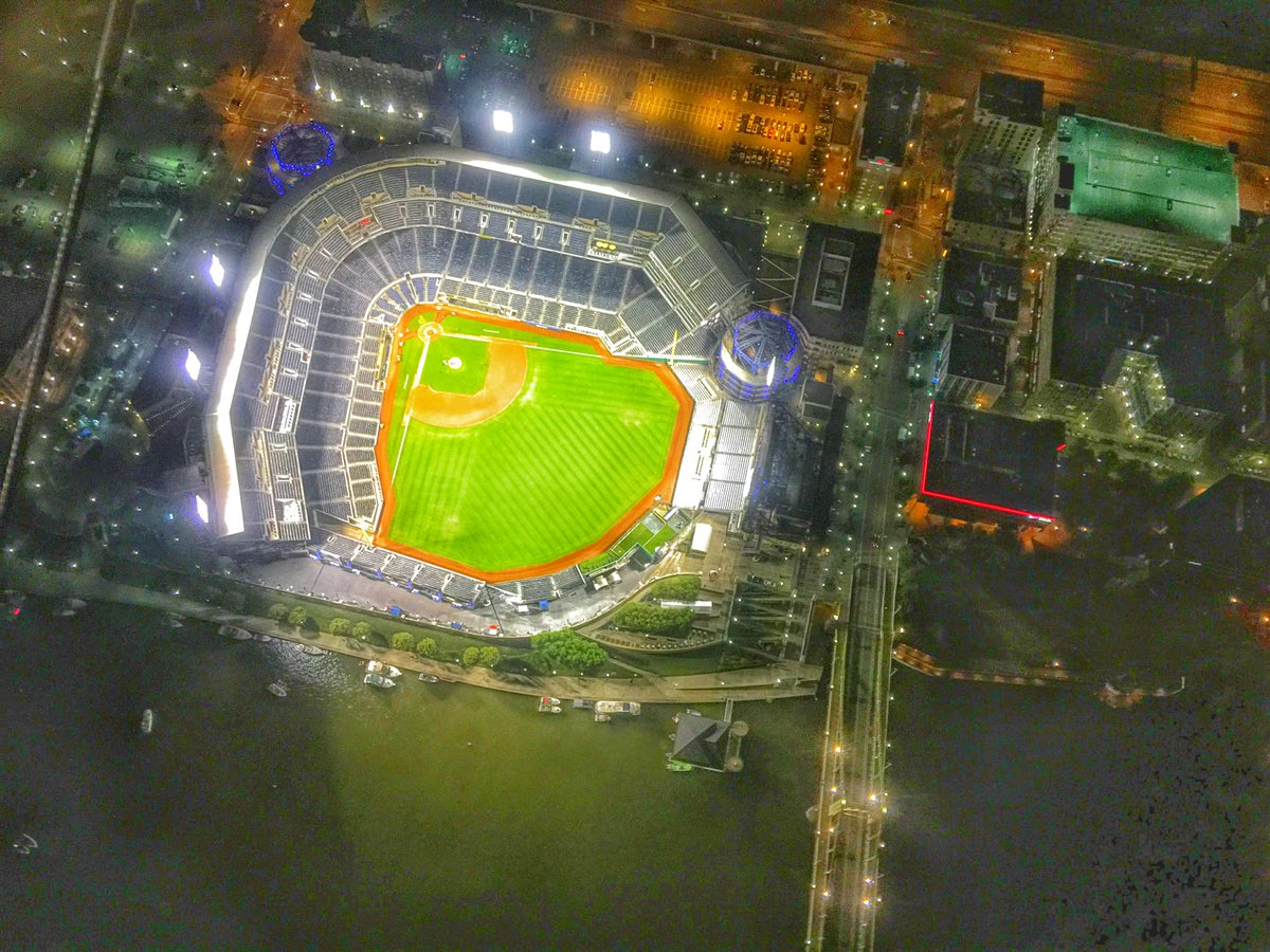 (my favorite) - #Pittsburgh PNC Park from the @dtvblimp see more here:  See more here: http://t.co/T63tuoZ7fK http://t.co/zwpayzJln9