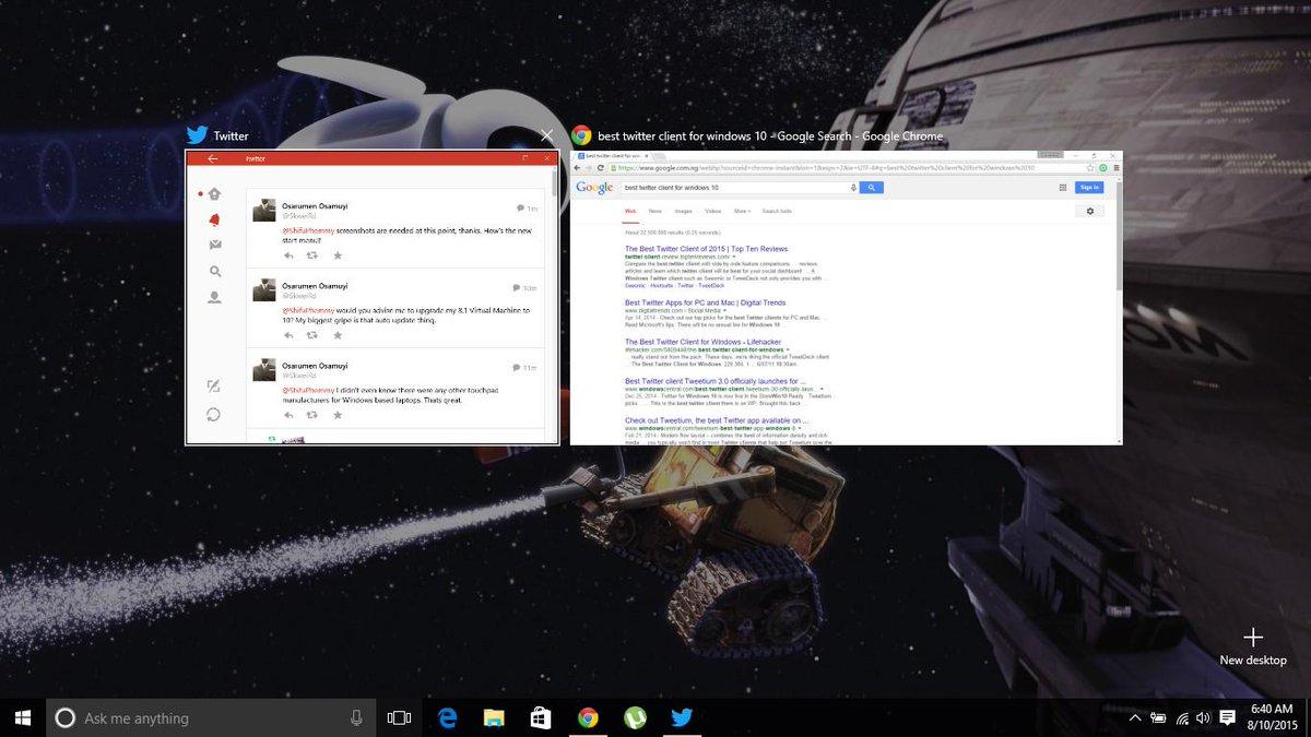 إزالة زر Task View من شريط مهام Windows 10