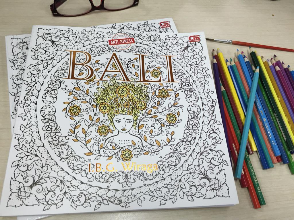 Dinipandia On Twitter Anti Stress Coloring Book For Adults Bali