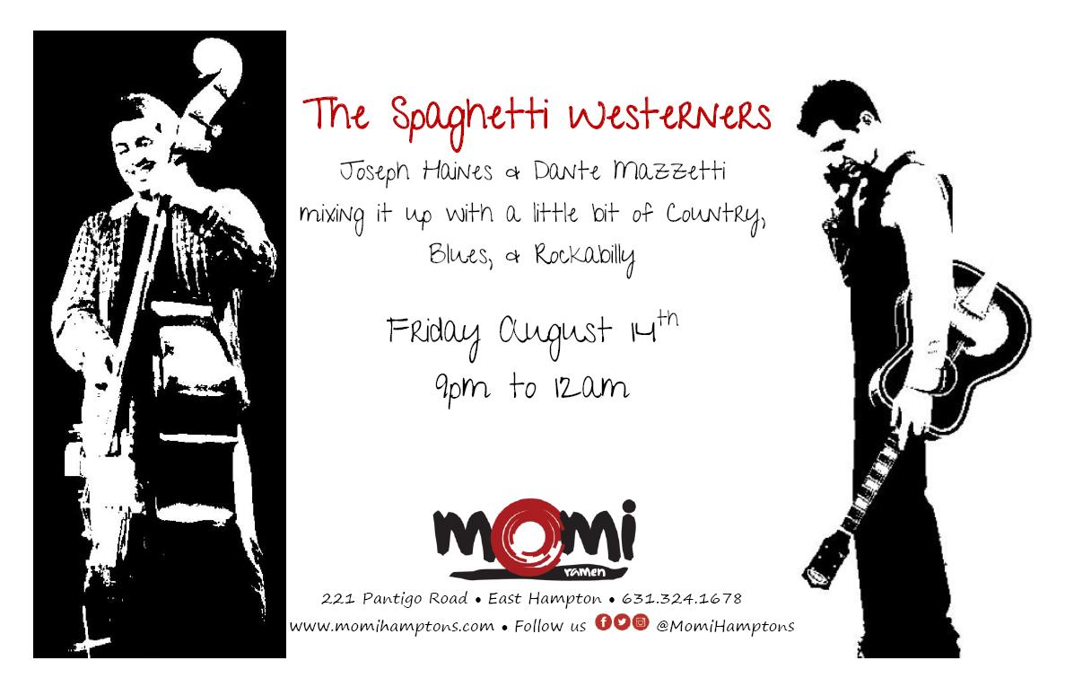 Fri 8/14 9pm-12am #LiveMusic w/ The Spaghetti Westerners ~ @Ilikeseahorses @dantemazzetti #country #Blues #rockabillypic.twitter.com/tnMfw9SN82