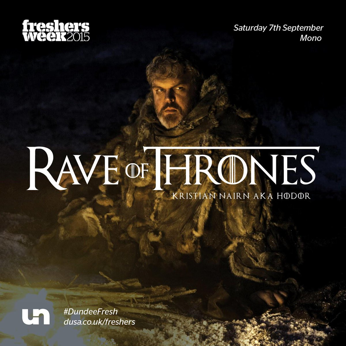 .@KristianNairn (Hodor from #GoT) @ Freshers Week! Buy ur Freshers pass http://t.co/xNW4kVkcfp & don't miss the party http://t.co/aFT5u3Ffab