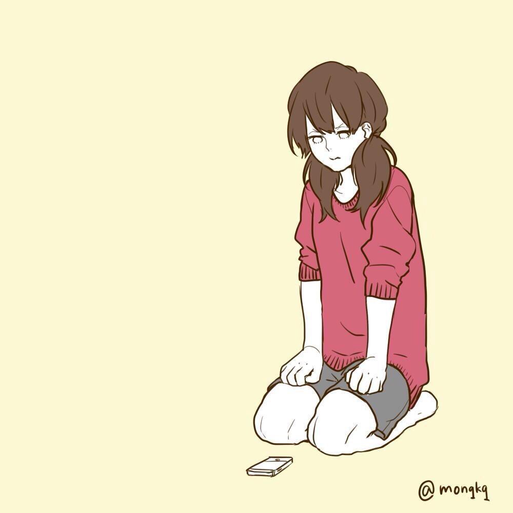"""深町なか*カップルイラスト on twitter: """"連絡自分でおわって 既読"""