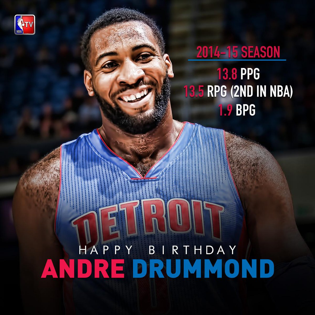 Happy Birthday @andredrummondd! The @detroitpistons Big