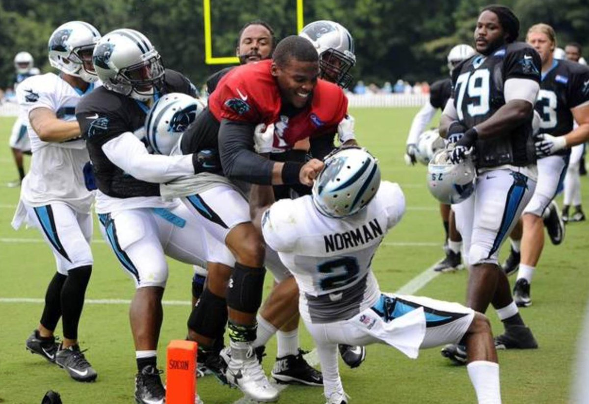 Cam Newton fights teammate at training camp, says 'Hit me like that again, you'll know something.'