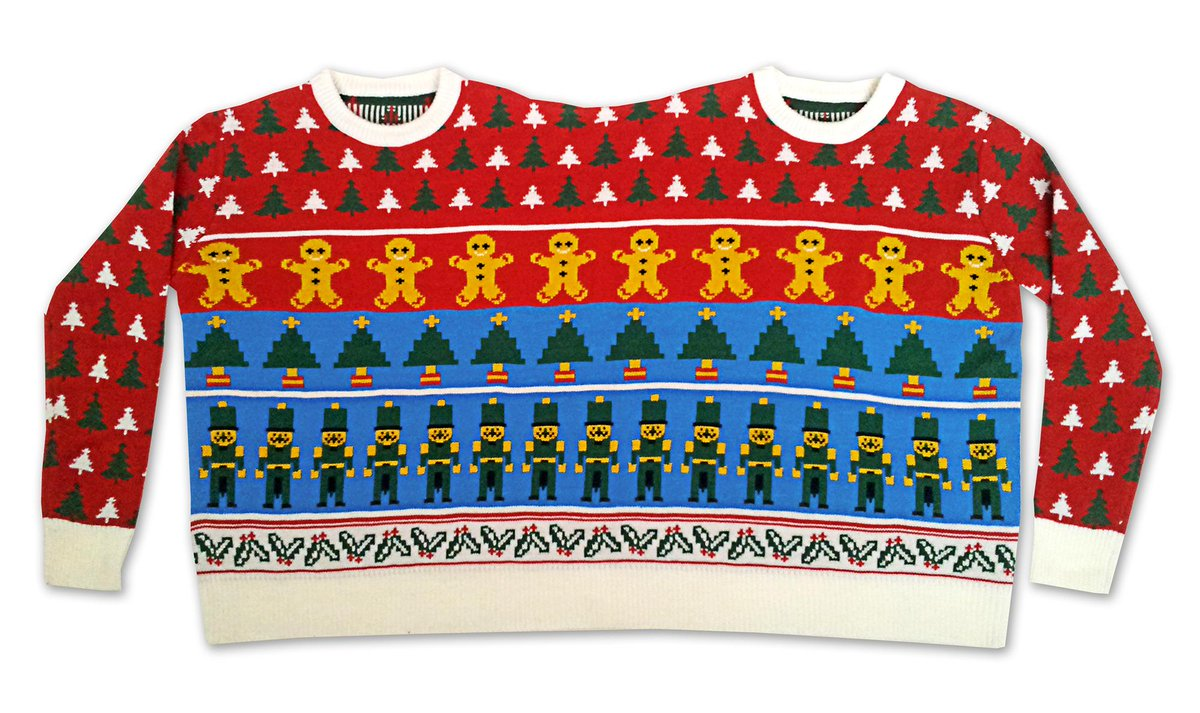 Cheesy Xmas Jumpers On Twitter 2 Headed 2 Person Christmas Sweater