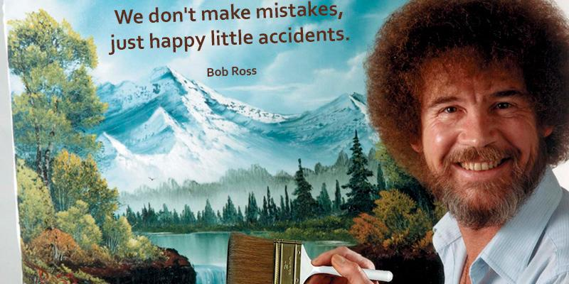 Bob Ross wisdom doubles as #MondayMotivation. #JustKeepSwimming http://t.co/7ukaLW3qS6