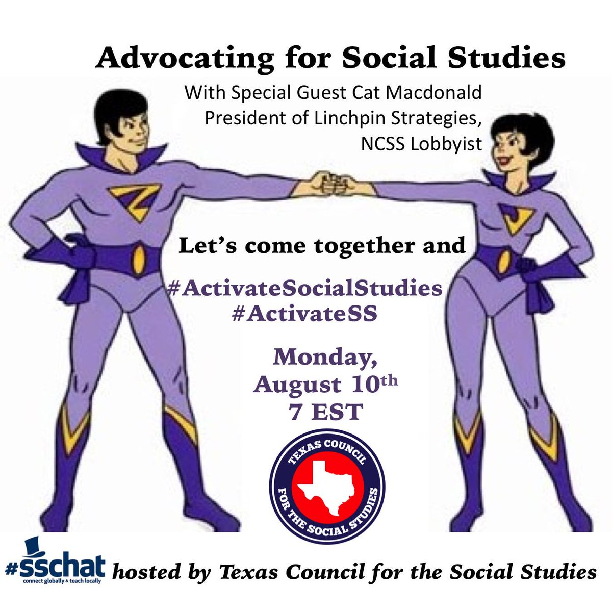 Join #sschat Tonight  7 PM EST as we discuss Advocating Social Studies with our host @TxSocialStudies http://t.co/7iJPq8JHNo