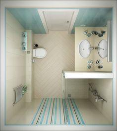 وافكار للحمامات صغيرة المساحة 7