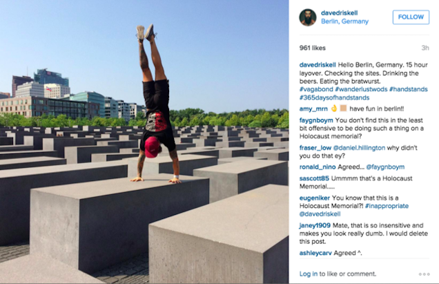 Crossfit Is Dumb. Crossfit At A Holocaust Memorial Is EvenDumber. http://t.co/8bRKpNubQR http://t.co/fuGROd04JQ