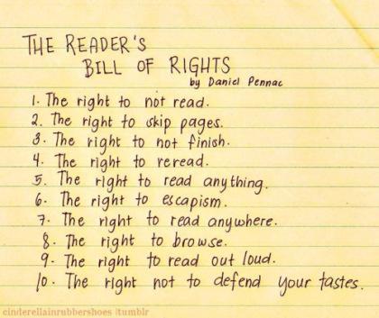 """jennifer walker on twitter: """"a reader's bill of rights by daniel"""