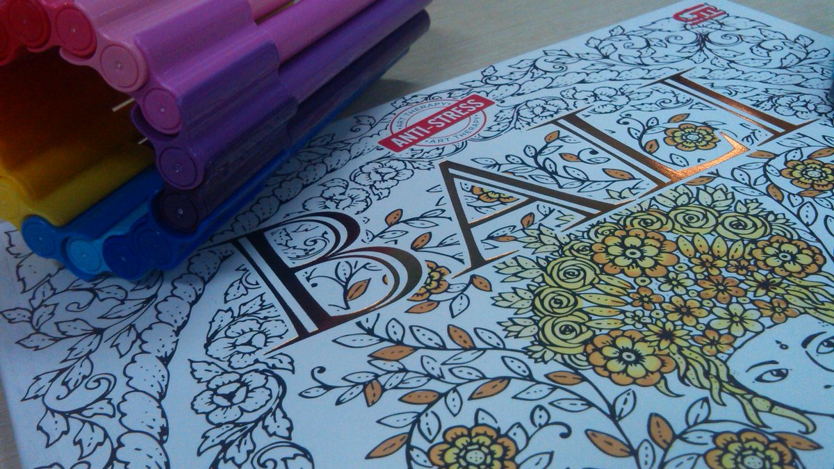 Dprihas On Twitter You Cant Deny The Awesome Details Of Bali Coloring Book For Adults By Ibgwiraga Gramedia Keluarin Pensil Warna