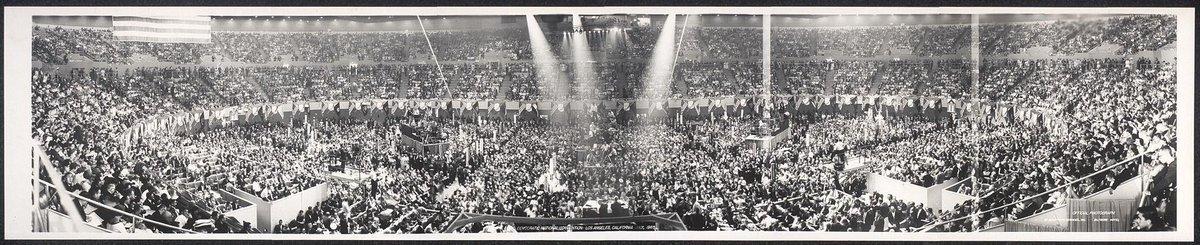 This crowd from #feelthebern @BernieSanders makes us flashback to the 1960 Dem. National Conv  #JFK #lyndonBJohnson http://t.co/C9WPCDUsox