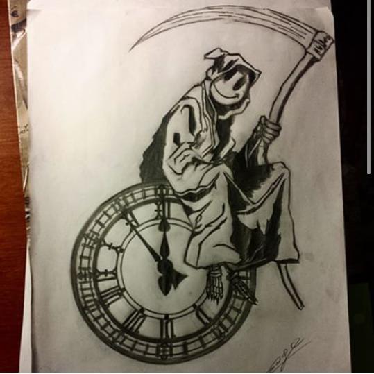 Cesar Golindano On Twitter Grim Reaper Clocks Ticking Clock