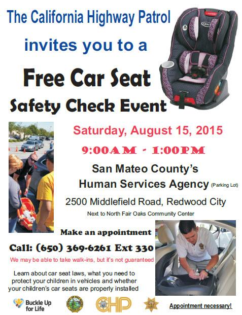 CHP Redwood City On Twitter Need To Get Your Car Seat Checked We Have An Event This Saturday Join Us CHPSanFrancisco SMCSheriff Sanmateoco