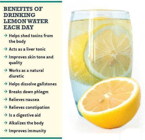 Benefits of drinking Lemon water everyday  #Lemon #HealthTips #EbixAdam