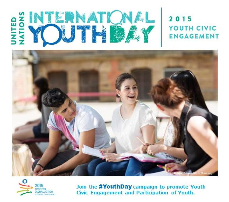 12 August is Int'l #YouthDay! Take #Action2015 to promote youth civic engagement. More at: http://t.co/vh5jXysa2d http://t.co/hpKfTB2HVZ