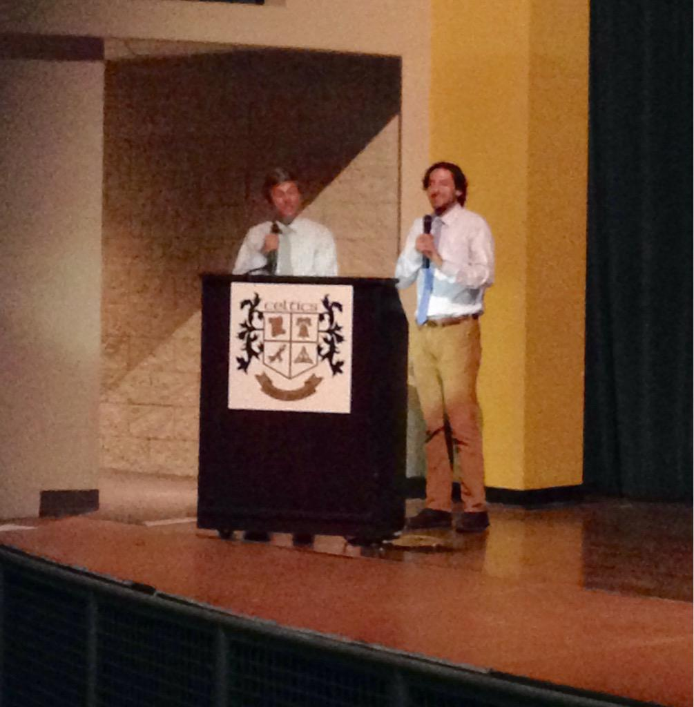 Keynote speakers recent @DublinSchools grads! #Leadership15 modeling that we are student centered! http://t.co/P7h92vvAtE