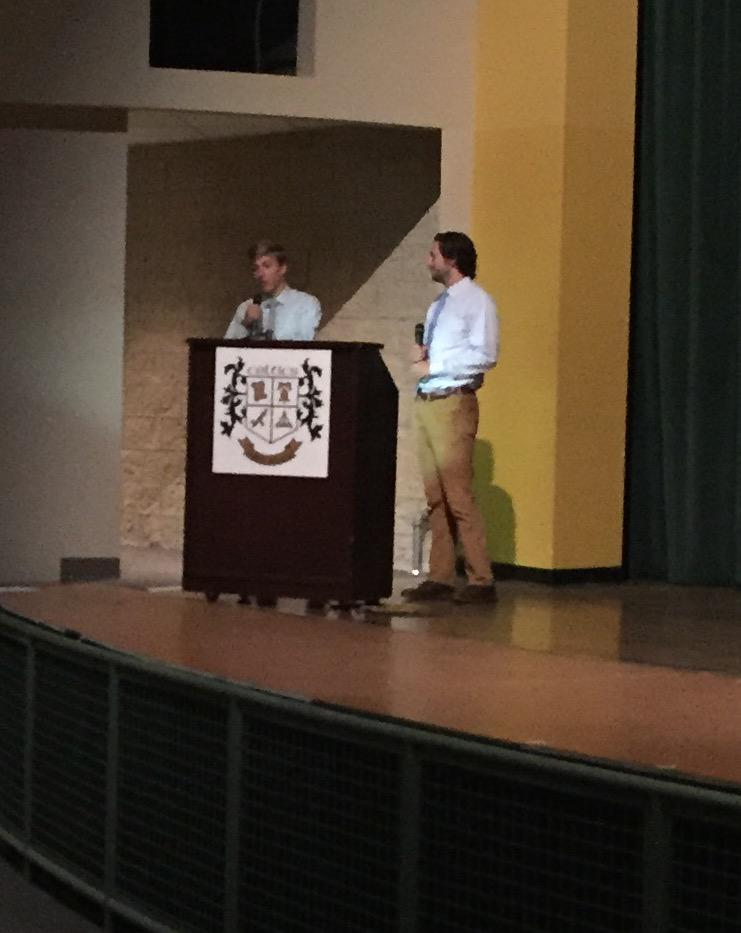 @dublinjeromehs grads Jesse & Trent share stories at #Leadership15 of what #The DublinDifference was to them: Staff! http://t.co/MuMhitDCQu