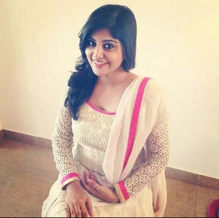 The beautiful Manjima Mohan heroine of Naga Chaitanya and Simbu in Tamil for Saahasame Swaasaga Sagipo..