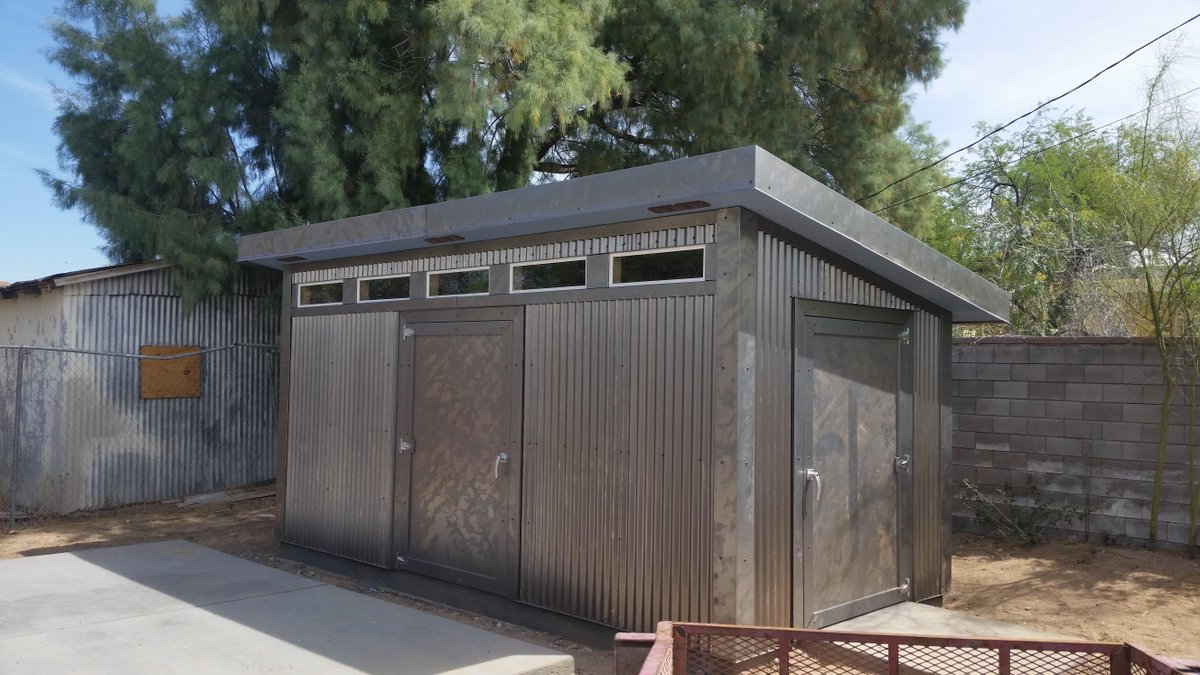 Mike Casey On Twitter Quot Custom Tuff Shed With Corrugated