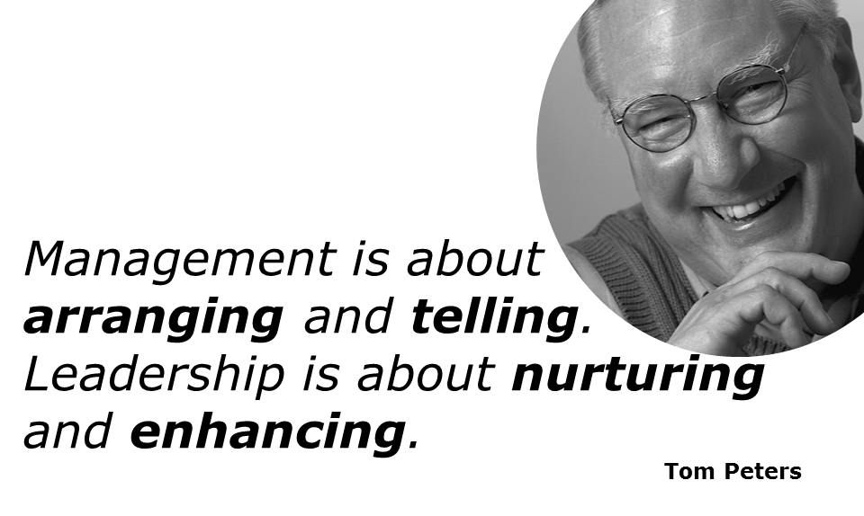 Management is about arranging & telling. #Leadership is about nurturing and enhancing. http://t.co/D42OQgAlfF